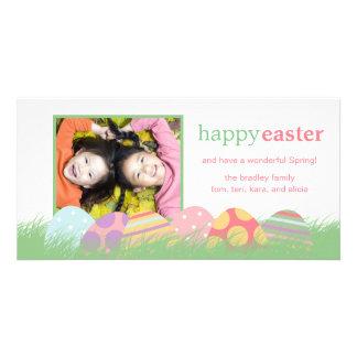 Cartes de voeux de photo de Pâques d'oeufs de pâqu Cartes De Vœux Avec Photo