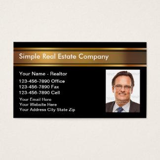 Cartes d'entreprise immobilière de photo