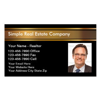 Cartes d'entreprise immobilière de photo carte de visite standard