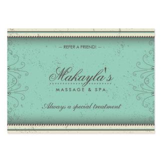 Cartes élégantes de référence de damassé florale carte de visite