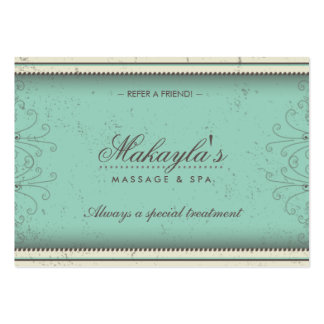 Cartes élégantes de référence de damassé florale d carte de visite