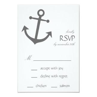 Cartes nautiques de l'ancre RSVP de bateau Invitations Personnalisables