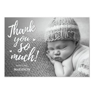 Cartes nouveau-nées de Merci Carton D'invitation 8,89 Cm X 12,70 Cm