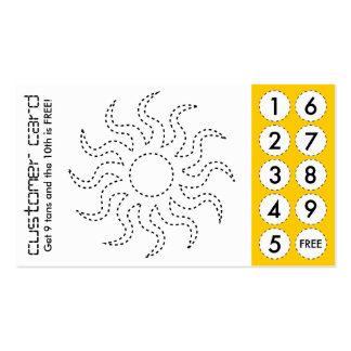 cartes perforées coupées de salon de bronzage carte de visite standard