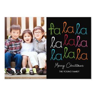 Cartes photos de vacances de La de La de fa Carton D'invitation 12,7 Cm X 17,78 Cm