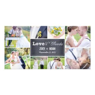 Cartes photos marqués à la craie de Merci de maria Photocarte Personnalisée