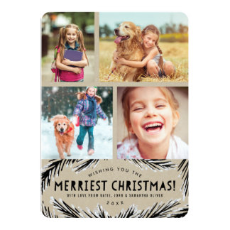 Cartes photos mignons de Noël de Papier Carton D'invitation 12,7 Cm X 17,78 Cm