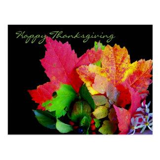 Cartes postales de feuillage de bon thanksgiving