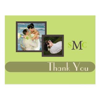 Cartes postales de Merci de photos de mariage,