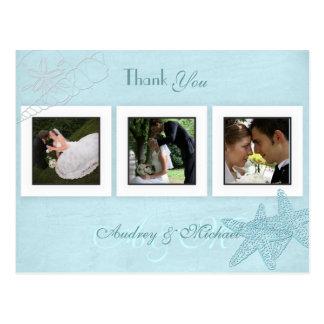 Cartes postales de Merci de photos de mariage de