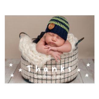 Cartes postales de photo de Merci de bébé