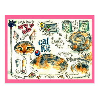 Cartes postales drôles et mignonnes de chaton de c