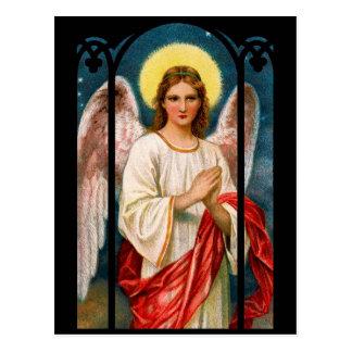 Cartes postales victoriennes de Noël d'ange
