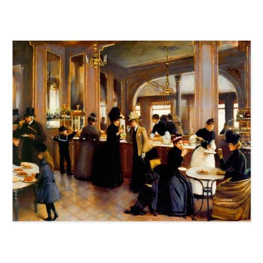 Cartes postales vintages de l'art 1889 de magasin