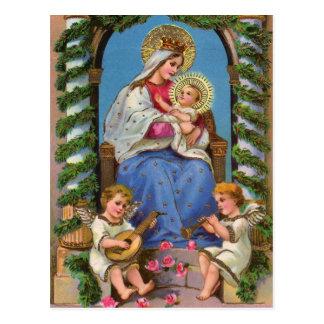 Cartes postales vintages de Noël de Jésus de bébé