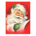 Cartes postales vintages de Noël du père noël