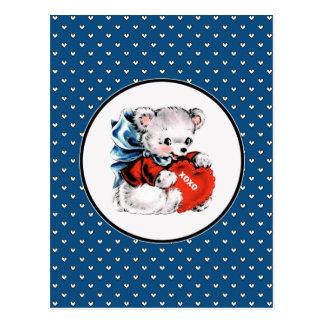 Cartes postales vintages de Saint-Valentin d'ours