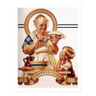Cartes postales vintages de thanksgiving d'art