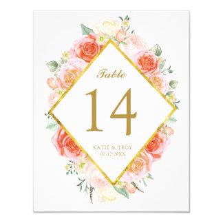 Cartes pour aquarelle élégantes de nombre de carton d'invitation 10,79 cm x 13,97 cm
