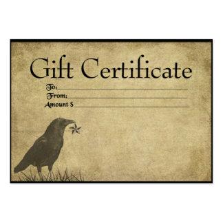 Cartes tirées à quatre épingles de certificat-prim cartes de visite professionnelles