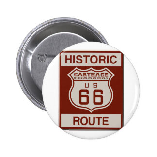 Carthage Route 66 2 Inch Round Button