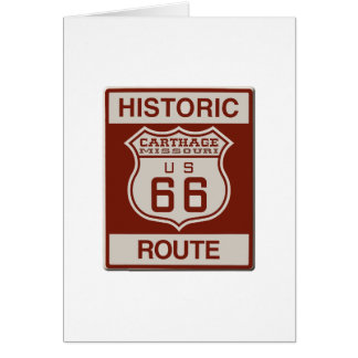Carthage Route 66 Card