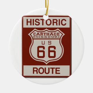 Carthage Route 66 Ceramic Ornament