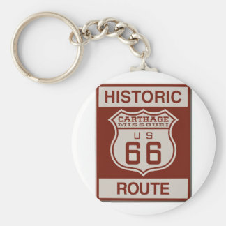 Carthage Route 66 Keychain