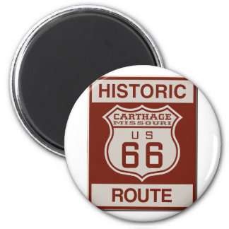 Carthage Route 66 Magnet