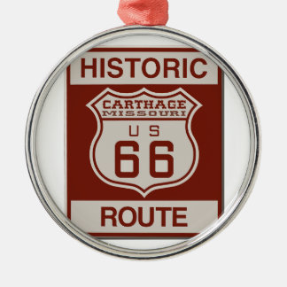 Carthage Route 66 Metal Ornament