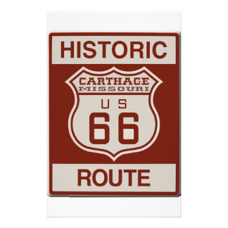 Carthage Route 66 Stationery