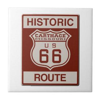 Carthage Route 66 Tile