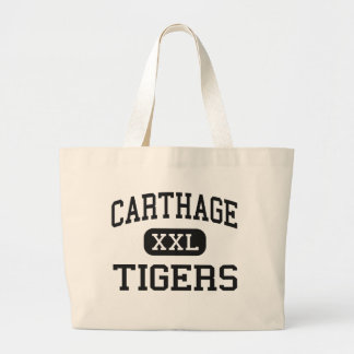 Carthage - Tigers - High - Carthage Mississippi Large Tote Bag