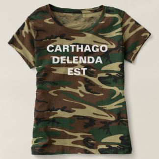 Carthago delenda est military shirt