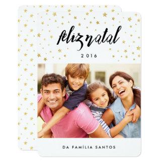 Cartões comemorativos   Feliz Natal estrelas Card