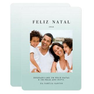 "Cartões comemorativos | ombré azul 5"" x 7"" invitation card"