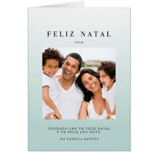 Cartões comemorativos   ombré azul greeting card