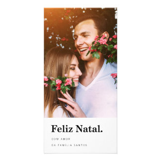 Cartões comemorativos   tipografia moderna personalized photo card