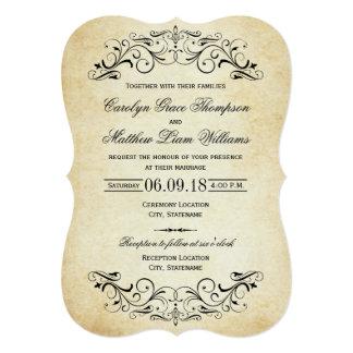 CARTON D'INVITATION  12,7 CM X 17,78 CM