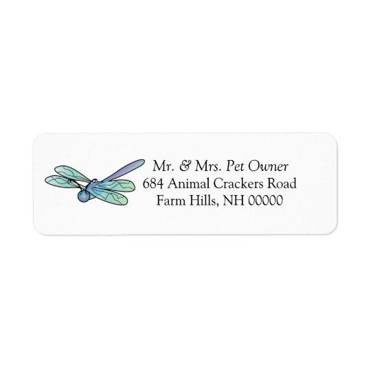 Carton Dragonfly Return Address Labels Stickers