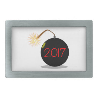 Cartoon 2017 New Year Bomb Belt Buckle
