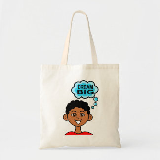 Cartoon African American Boy Smiling Dream Big