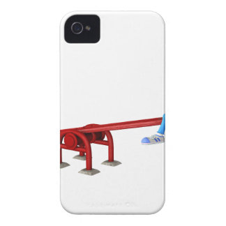 Cartoon African American Children on a See Saw iPhone 4 Case-Mate Cases