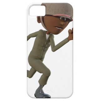 Cartoon African American Soldier Running iPhone 5 Covers