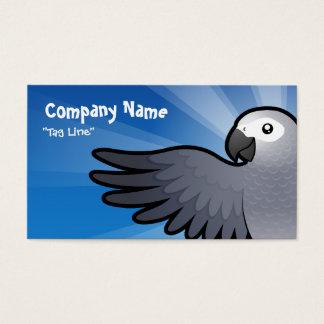 Cartoon African Grey / Amazon / Parrot Business Card