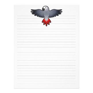 Cartoon African Grey / Amazon / Parrot Custom Letterhead