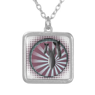 Cartoon Air Bomb 2 Silver Plated Necklace