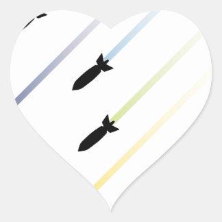 Cartoon Air Bomb 3 Heart Sticker
