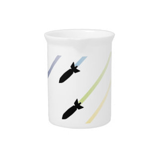 Cartoon Air Bomb 3 Pitcher