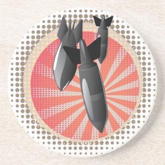 Cartoon Air Bomb Coaster
